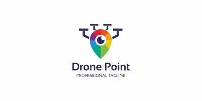 Camera Drone Point Logo