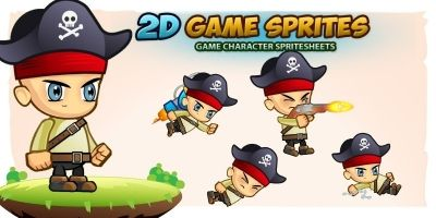 Pirate 2D Game Character Sprites
