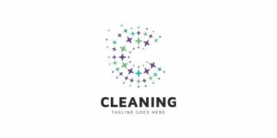 Cleaning C Letter Logo