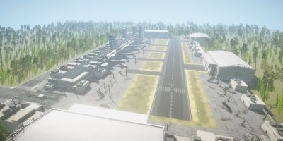 Airport Level Unity 3D Model