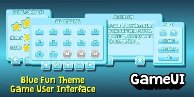 Blue Fun Theme GUI