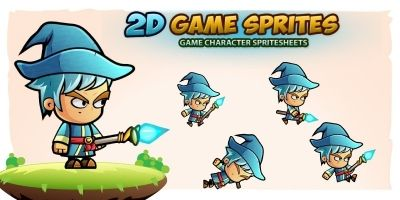 Mage 2D Game Character Sprites