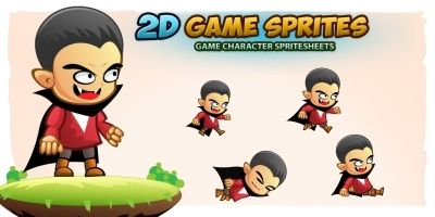 Vampires 2D Game Character Sprites