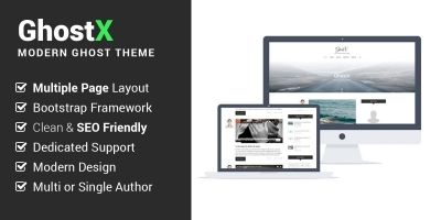 Ghostx - Minimal Responsive Blogging Theme