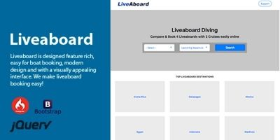 Live aboard - Boat Booking PHP Script