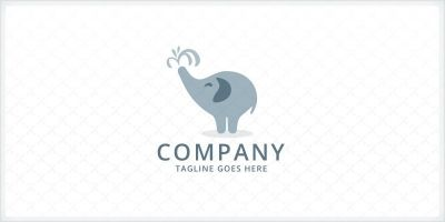 Cute Elephant Logo
