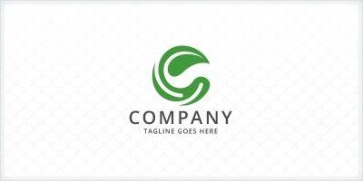 Letter C Leaf Logo