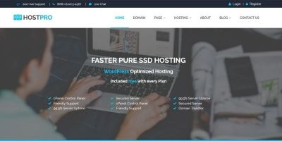 HostPro - Hosting HTML5 Template