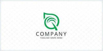 Leaf - Letter Q Logo