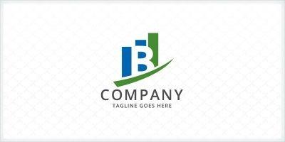 Letter B - Bar Charts Logo