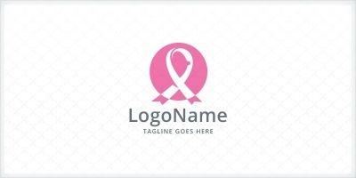 Breast Cancer Pink Ribbon Logo