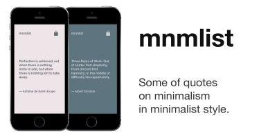 Mnmlist - iOS Quotes App Source Code