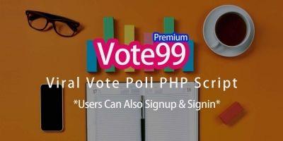 Vote99 Premium - Vote Poll Viral Script
