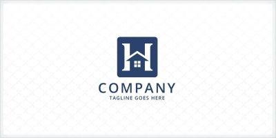 Letter H - Home Logo