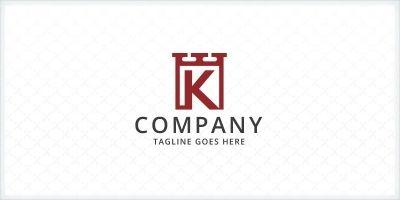 Letter K - Fortress Logo