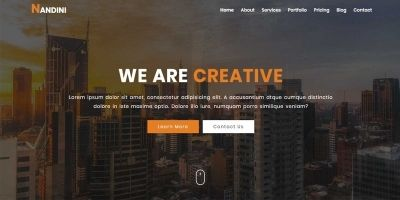 NANDINI - One Page Business html Template