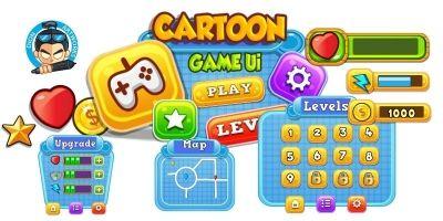 Cartoon Game Ui Set 12
