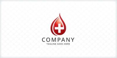 Blood Donation - Medical Logo