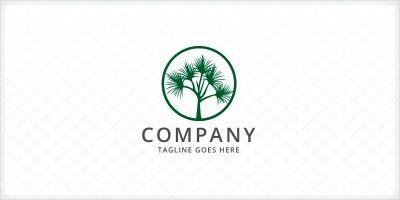 Pandanus - Palm Tree Logo