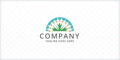 Landscaping Gardening - Lawn Care Logo