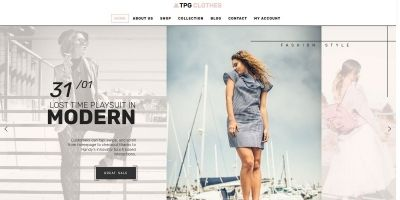 TPG Clothes WordPress Theme