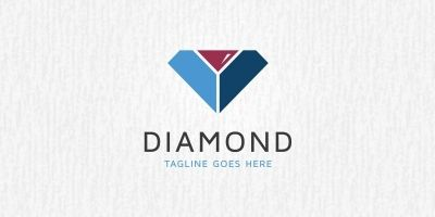 Diamond Drink Logo Template