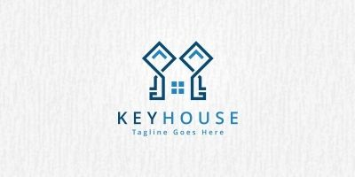 Key House Logo Template