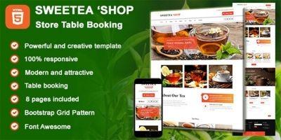 Sweetea Shop - HTML Tea Store Table Booking