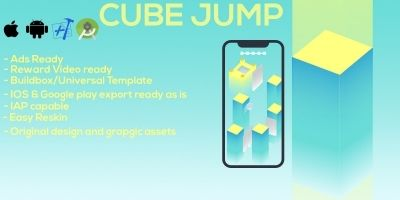 Cube Jump Buildbox Template