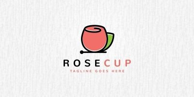Rose Cup Logo Template