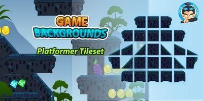Platformer Tilesets Game BG 04