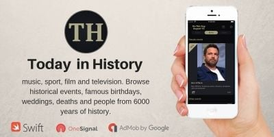 Today in History - iOS Native App