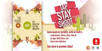 Tap Stay Shoot - iOS Source Code