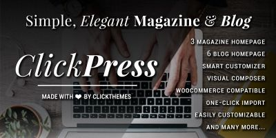 Click Press - Magazine WordPress Theme