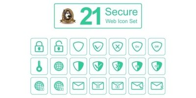 21 Secure Web Icon Set