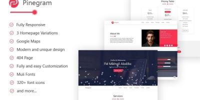 Pinegram - HTML Personal Portofolio Template