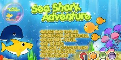 Sea Shark Adventure - Buildbox Template