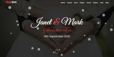 Sporsho - One Page Wedding Invitation Template
