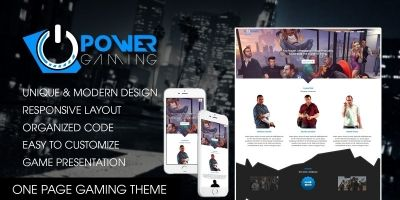 PowerGaming - Gaming HTML Template