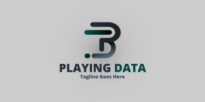 Letter P & D - Playing Data Logo