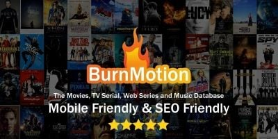 BurnMotion - Movies And TV Database PHP