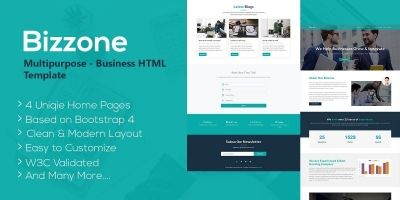 Bizzone - Multipurpose Business HTML5 Landing Page