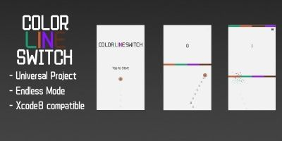 Color Line Switch - Buildbox Template