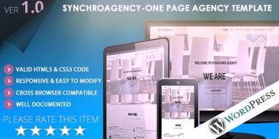 SynchroAgency WordPress Theme