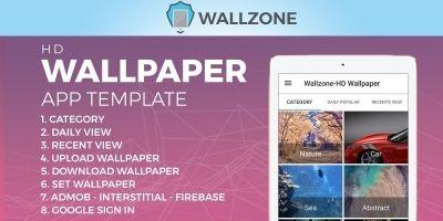 Wallzone -  HD Wallpaper App Template