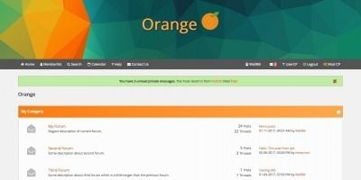 Orange Flat MyBB Theme