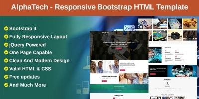 AlphaTech - Responsive Bootstrap HTML Template