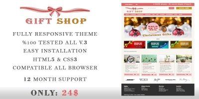 Gift Shop - OpenCart Theme