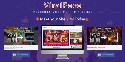 ViralFace - Facebook Viral Fun App PHP Script