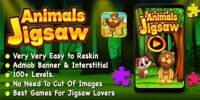 Animals Jigsaw Puzzle - iOS Source Code